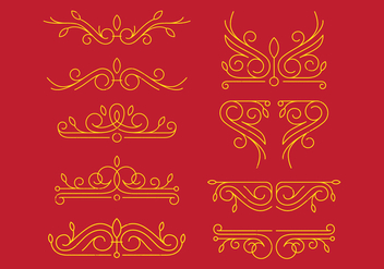Victorian Ornaments - Free vector #393767