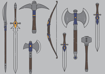Medieval Weapons - vector gratuit #393777