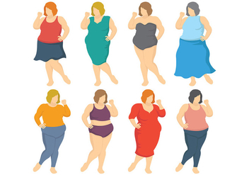 Free Fat Women Icons Vector - бесплатный vector #393787
