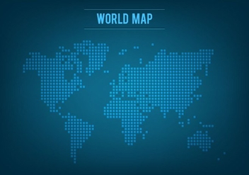 Free Vector Mosaic World Map - vector gratuit #393807