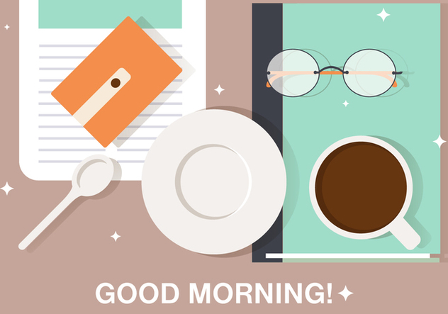 Free Morning Coffee Break Vector Illustration - Free vector #393827