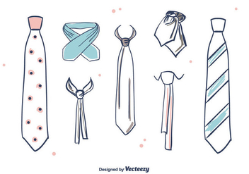 Hand Drawn Cravat Vector - Free vector #393837