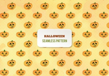 Free Vector Halloween Watercolor Pumpkins Pattern - бесплатный vector #393917