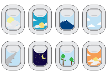 Plane Window Vector - vector #393937 gratis