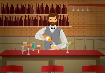 Free Barman Illustration - vector gratuit #393957