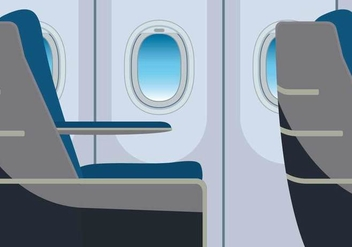 Free Plane Window Illustration - Free vector #393967