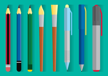 Drawing Equipment Vector - бесплатный vector #394007