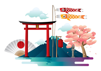 Japanesse Torii Vector - Free vector #394027