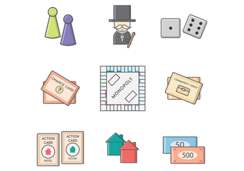 Free Monopoly Board Game Vector - бесплатный vector #394077