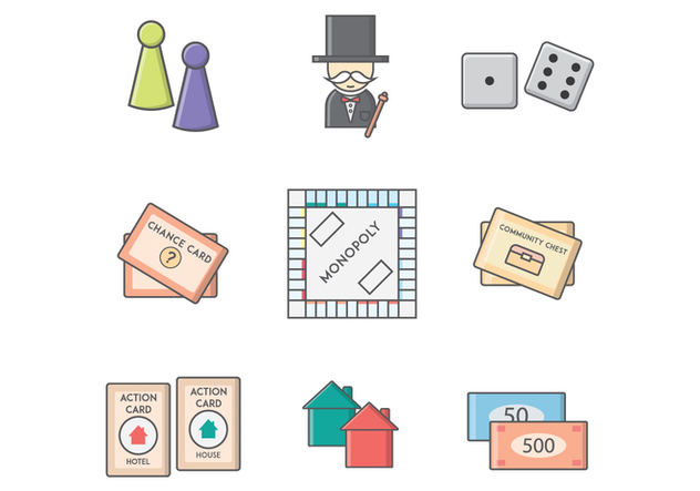 free monopoly board game vector free vector download 394077 cannypic