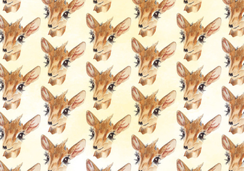 Free Vector Deer Watercolor Pattern - Kostenloses vector #394147