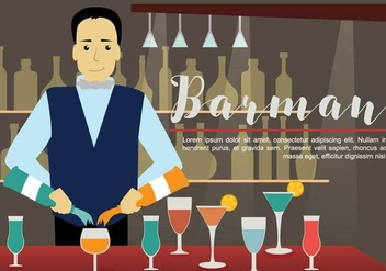 Free Barman Illustration - vector gratuit #394177