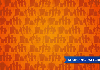 Family Shopping Pattern Vector - бесплатный vector #394217