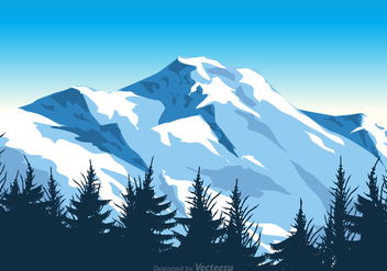 Free Vector Mount Everest Illustration - Free vector #394237