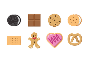 Free Chocolate And Biscuit Vector - vector gratuit #394247