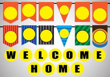 Vector Stock Decoration of Welcome home party - Kostenloses vector #394257