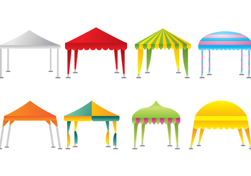 Gazebo icons - vector #394277 gratis