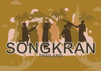 Free Songkran Illustration - Free vector #394307