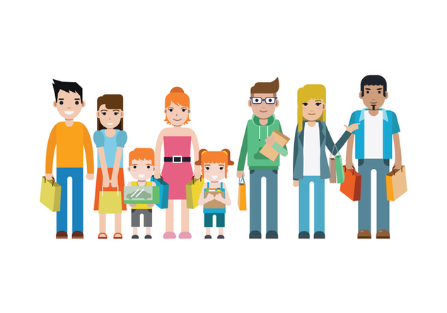 Free Shopping People Vector - Free vector #394387