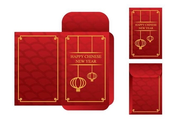 Free Red Packet Template Vector - Kostenloses vector #394407