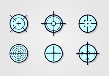 Laser Tag Target Vector Set - Free vector #394467