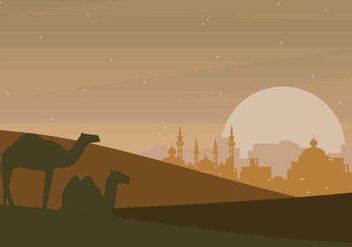 Free Arabian Night Illustration - vector gratuit #394527