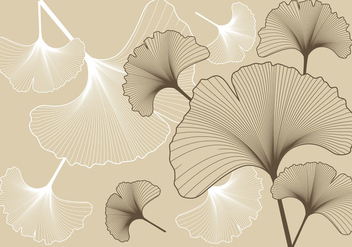 Ginko Pattern Background - Free vector #394567