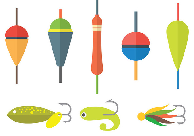 Free Fishing Lure Icons Vector - Free vector #394627