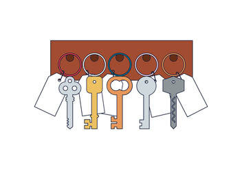 Free Key Holder Vector - vector #394657 gratis