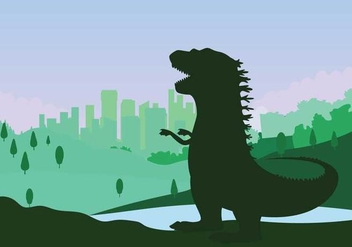Free Godzilla Illustration - бесплатный vector #394727