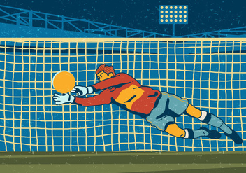 Soccer Goal Keeper - Kostenloses vector #394877