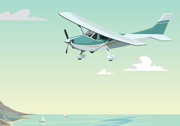 Cessna Fly At Daytime - Free vector #394957