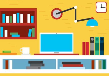 Free Flat Design Vector Room - Kostenloses vector #395047