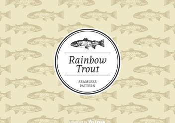 Free Rainbow Trout Vector Pattern - бесплатный vector #395117