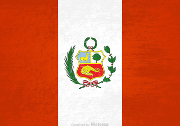 Free Vector Grunge Peru Flag - Free vector #395127