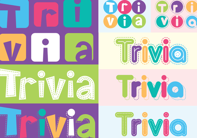 trivia lettering text - Free vector #395227