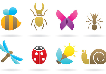 Insect Logos - vector gratuit #395377