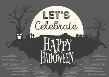 Vector Halloween Night Illustration - Free vector #395467