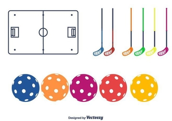 Floorball Vector Icons - бесплатный vector #395567