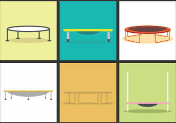 Trampoline Vector Illustrations - Free vector #395577