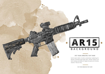 Free Ar15 Watercolor Background - vector gratuit #395647