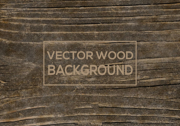 Vector Dark Wood Background - бесплатный vector #395727