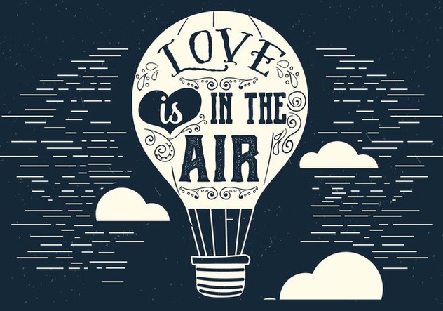 Love is in the Air Vector Air Balloon - Kostenloses vector #395767