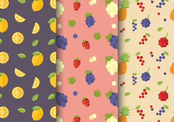Free Citrus Fruit Pattern Vector - vector gratuit #395917