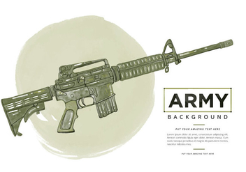 Free Ar15 Watercolor Background - бесплатный vector #395937