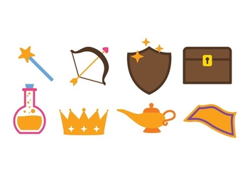 Free Fantasy Icon set - vector gratuit #395997
