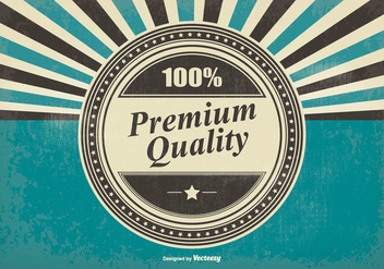 Retro Premium Quality Illustration - vector gratuit #396107