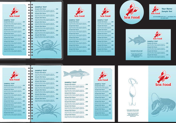 Seafood Menu Templates - бесплатный vector #396137