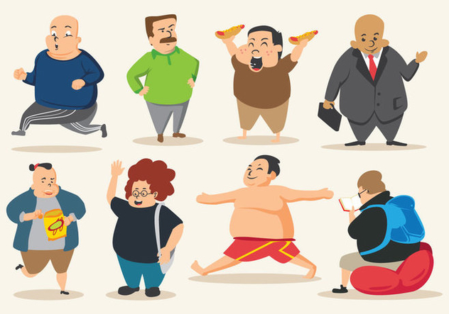 Free Fat Guy Vector - vector gratuit #396157