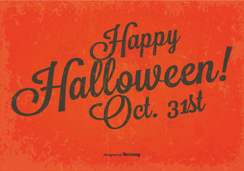 Vintage Happy Halloween Background - Free vector #396257